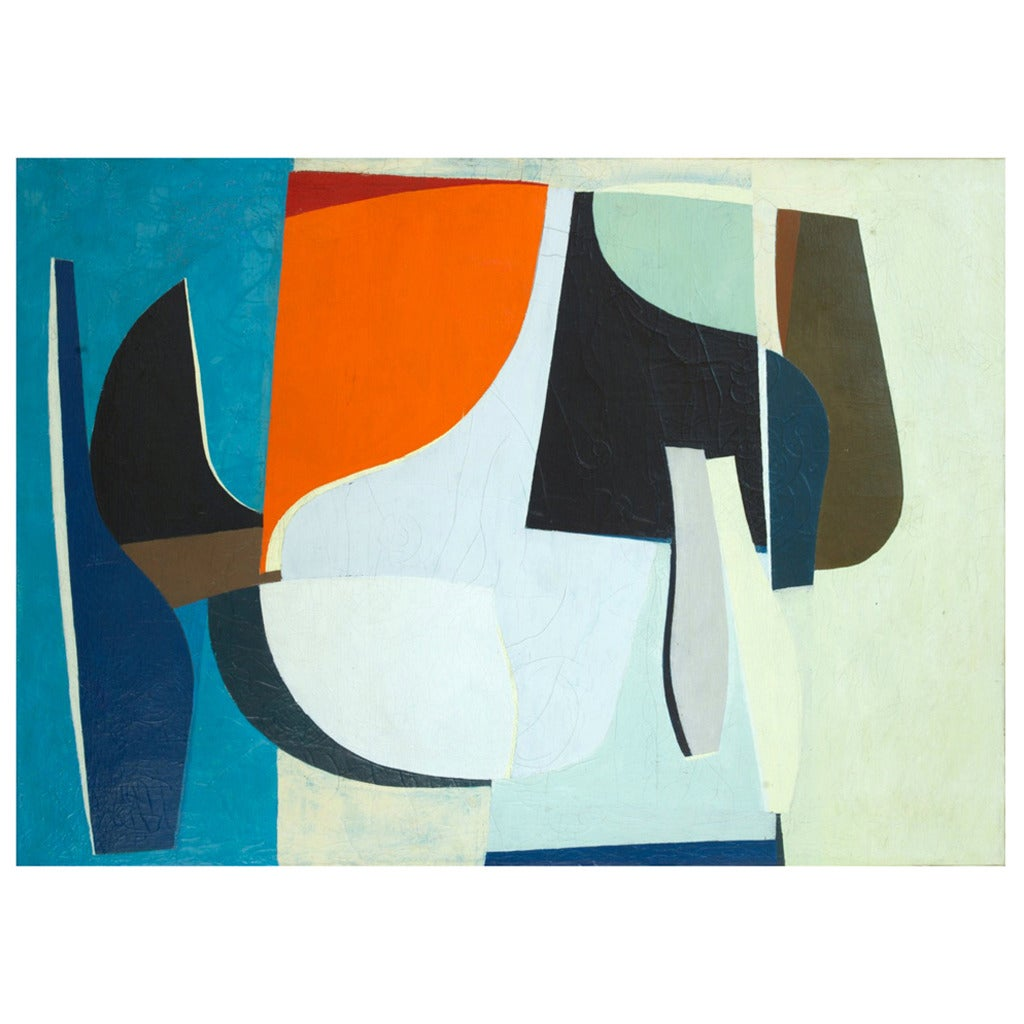 Ib Geertsen Composition 1951 Oil Painting For Sale
