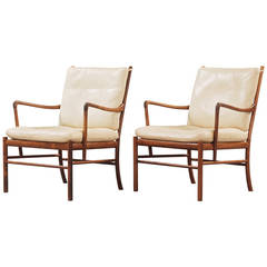 """Pair of Solid Rosewood """"Colonial Chairs"""" by Ole Wanscher"""