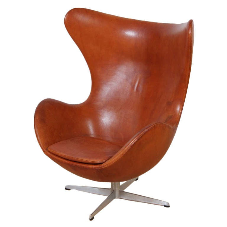 arne jacobsen early egg chair at 1stdibs. Black Bedroom Furniture Sets. Home Design Ideas