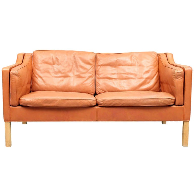20th Century Scandinavian Design 2 Seat Sofa In Leather At 1stdibs