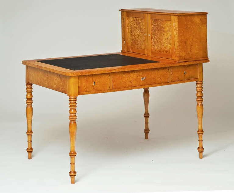 A Small Birch Wood Empire Partner 39 S Desk At 1stdibs
