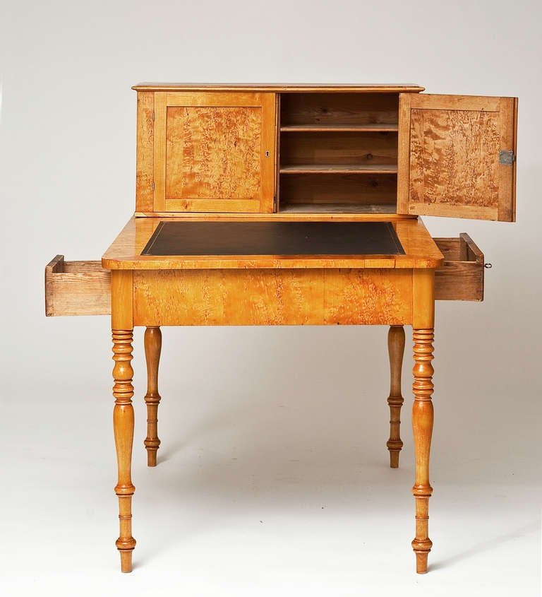 A small birch wood empire partner s desk at stdibs