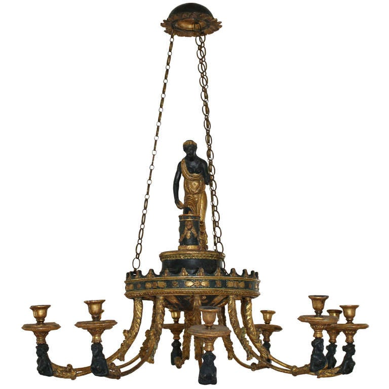 Neoclassical chandelier with 10 branches at 1stdibs - Chandelier a 5 branches ...