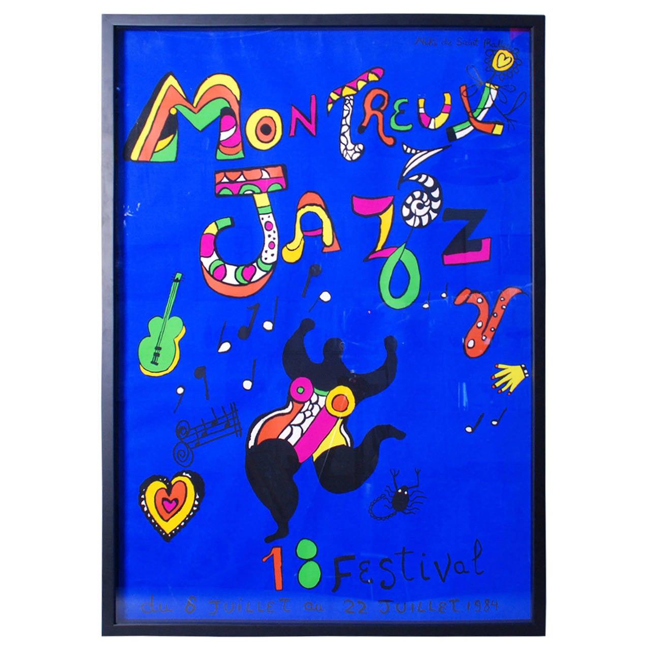"Poster ""Montreux Jazz Festival"" by Niki de Saint Phalle 1983"