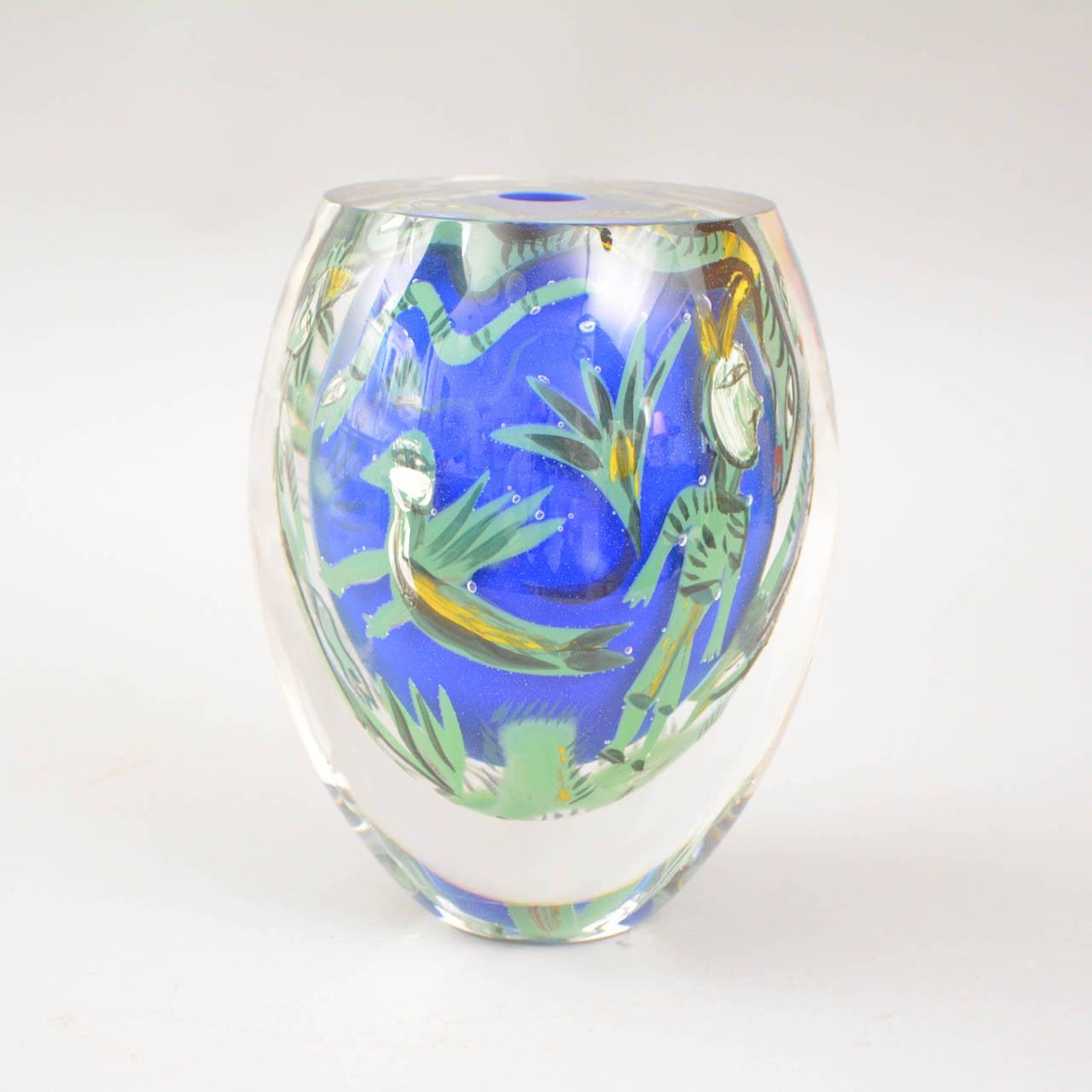 Unique Ulrica Hydman Vallien Kabale Vase For Kosta Boda