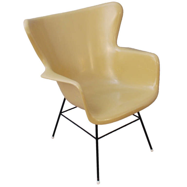 Fiberglass Chair by Lawrence Peabody at 1stdibs