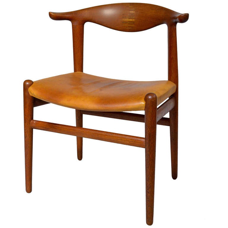 Hans J Wegner The Hornback Chair Teak Leather