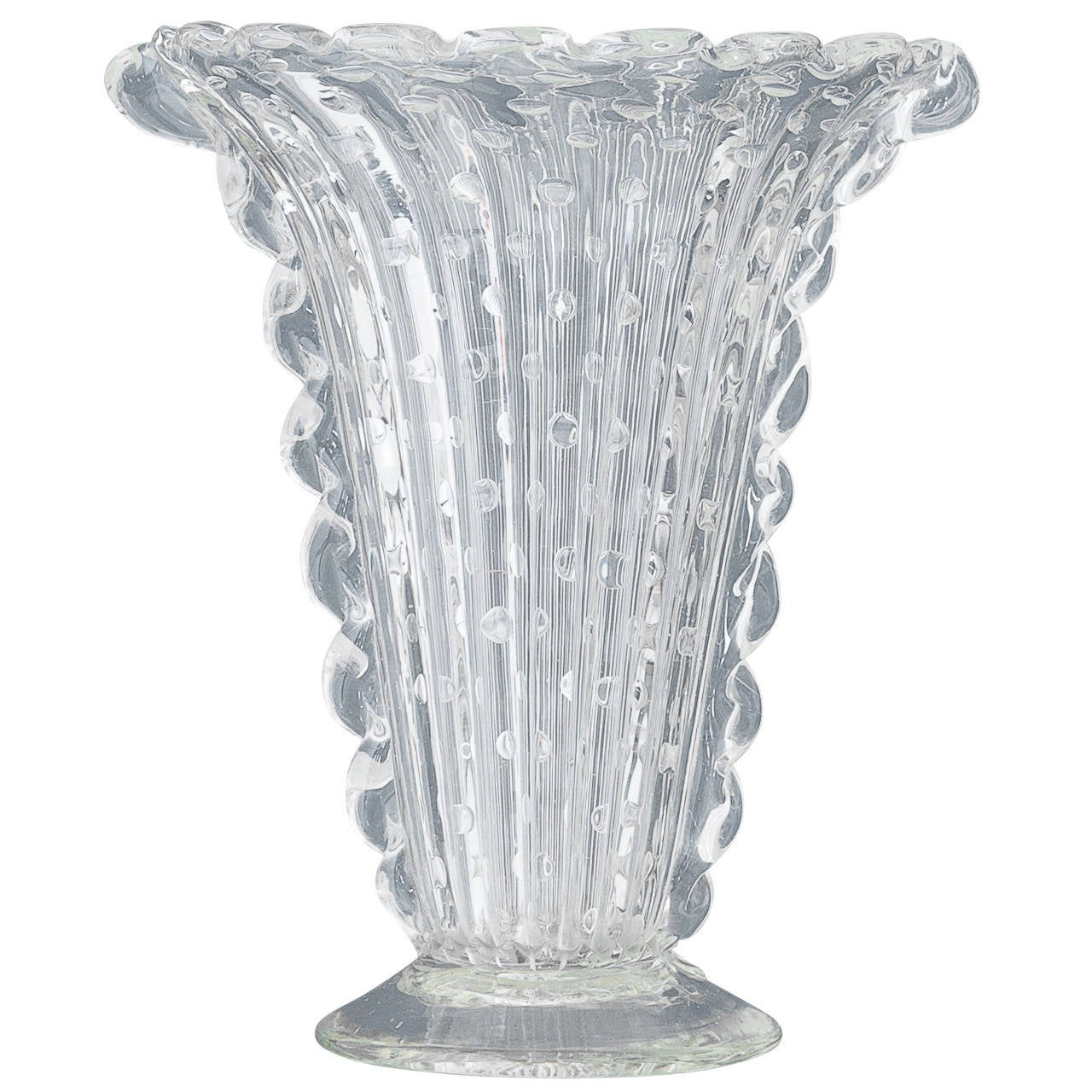 vintage murano clear glass vase at 1stdibs. Black Bedroom Furniture Sets. Home Design Ideas