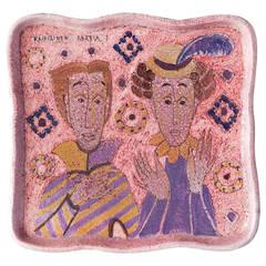 Ceramic Wall Platter by Birger Kaipiainen