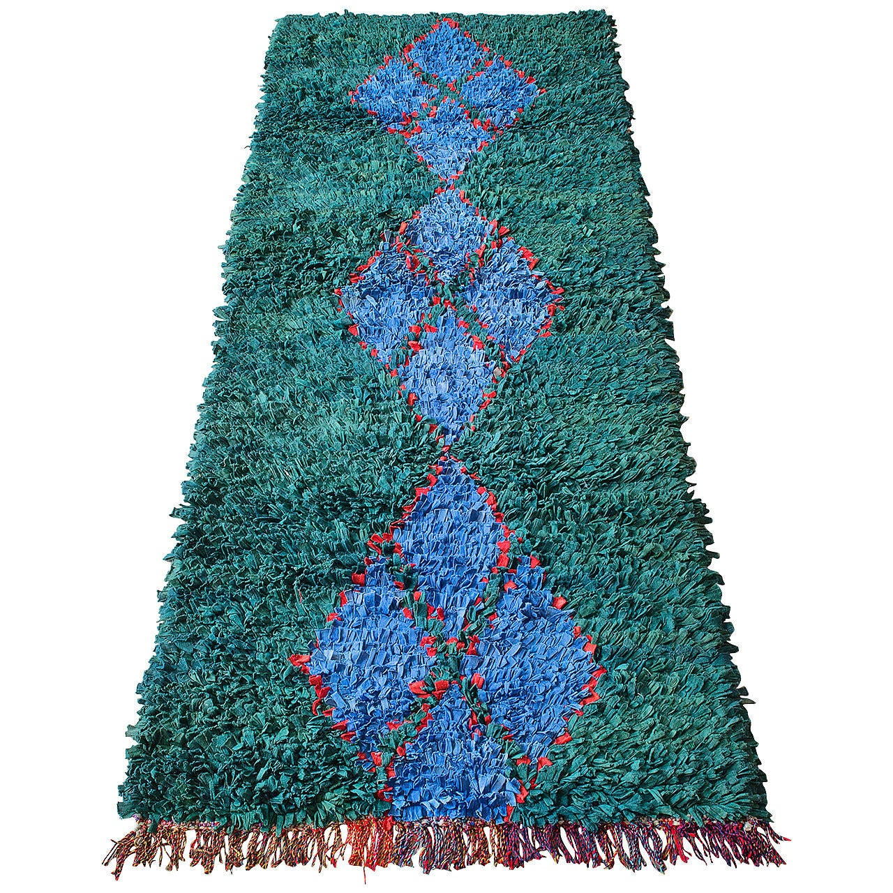 Moroccan Boucherouite Rug For Sale At 1stdibs: Moroccan Vintage Boucherouite Rag Rug At 1stdibs