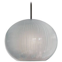 Glass Globe Pendant Lamp by Ludovico Diaz de Santillana for Venini