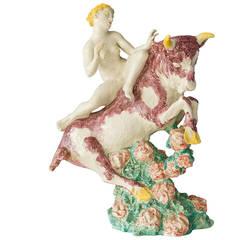 "Jean René Gauguin Earthenware Sculpture ""Europa på Tyren"""