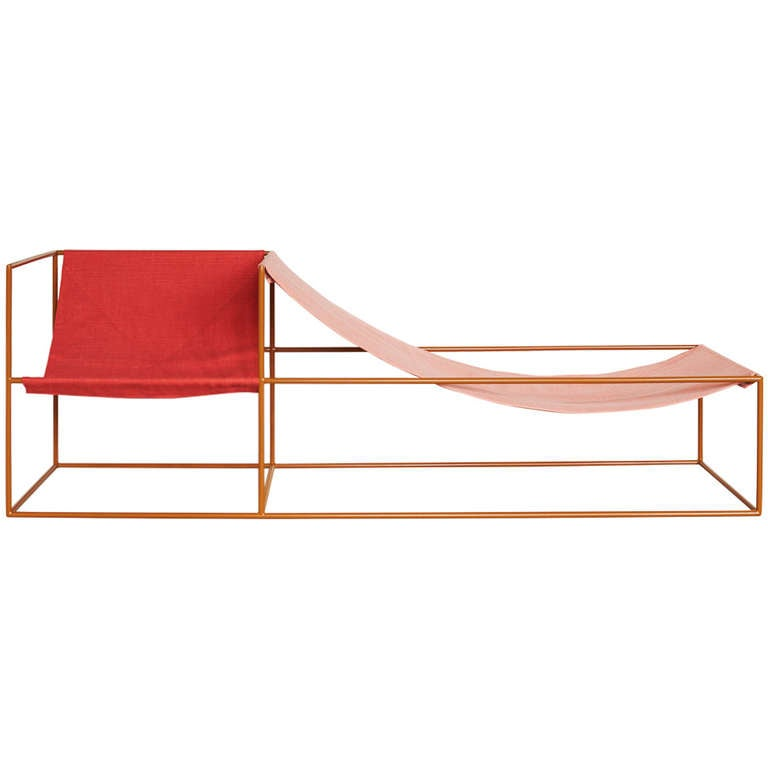 Muller van severen red and pink seated chaise longue at for Chaise 03 van severen