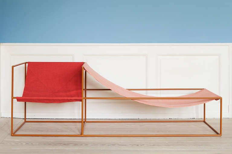 Muller Van Severen Red and Pink-Seated Chaise Longue 2