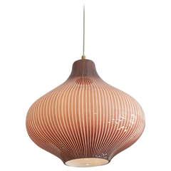 1950's Massimo Vignelli for Venini Onion Ceiling Lamp