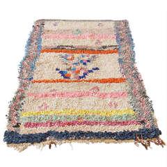 Vintage Berber Boucherouite Rag Rug