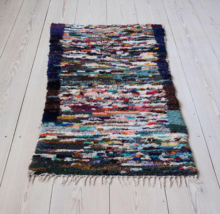 Vintage Berber Boucherouite Rag Rug At 1stdibs