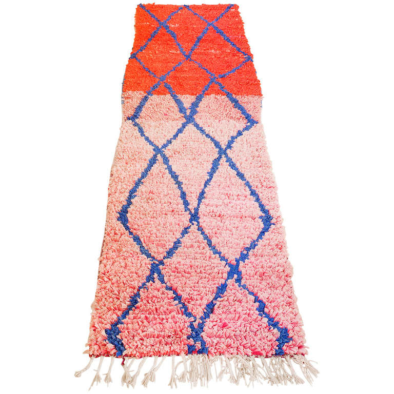 Moroccan Boucherouite Rug For Sale At 1stdibs: Vintage Berber Boucherouite Rag Rug At 1stdibs