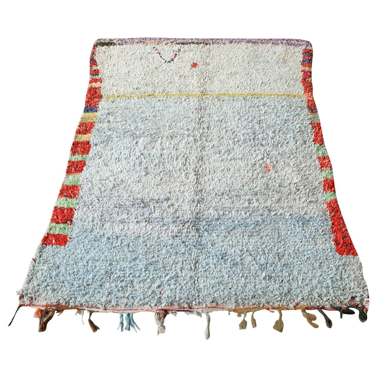 Moroccan Boucherouite Rag Rug At 1stdibs