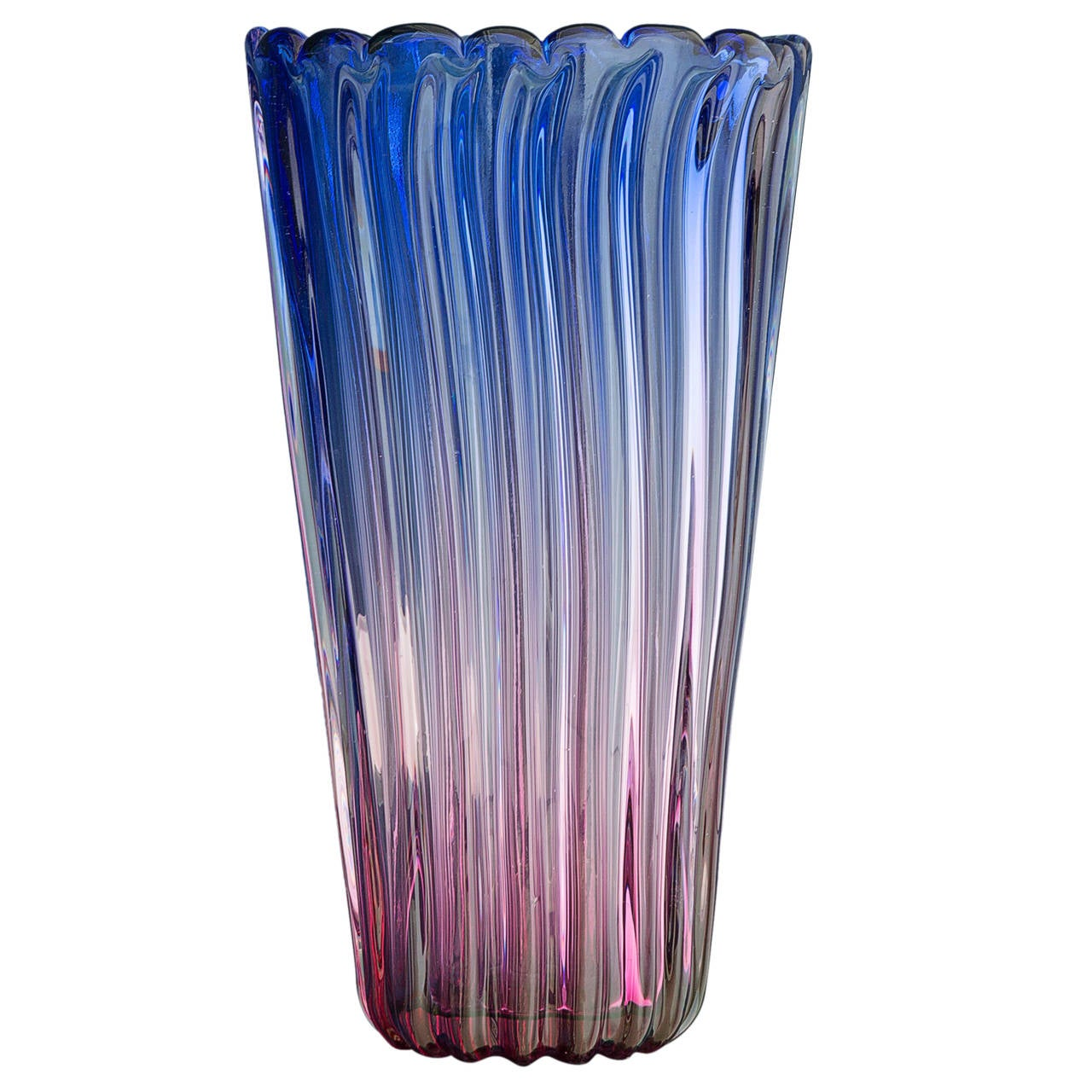 vintage murano glass vase at 1stdibs. Black Bedroom Furniture Sets. Home Design Ideas