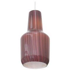 Glass Pendant Lamp Designed by Massimo Vignelli for Venini
