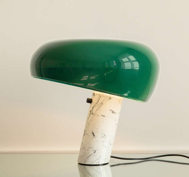 Snoopy lamp. Re-edition of Achille & Pier Giacomo Castiglioni's 1967 design made for the apartment in September 2013.
