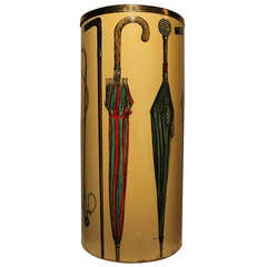 Umbrella Stand In Hand Painted Masonite circa 1950