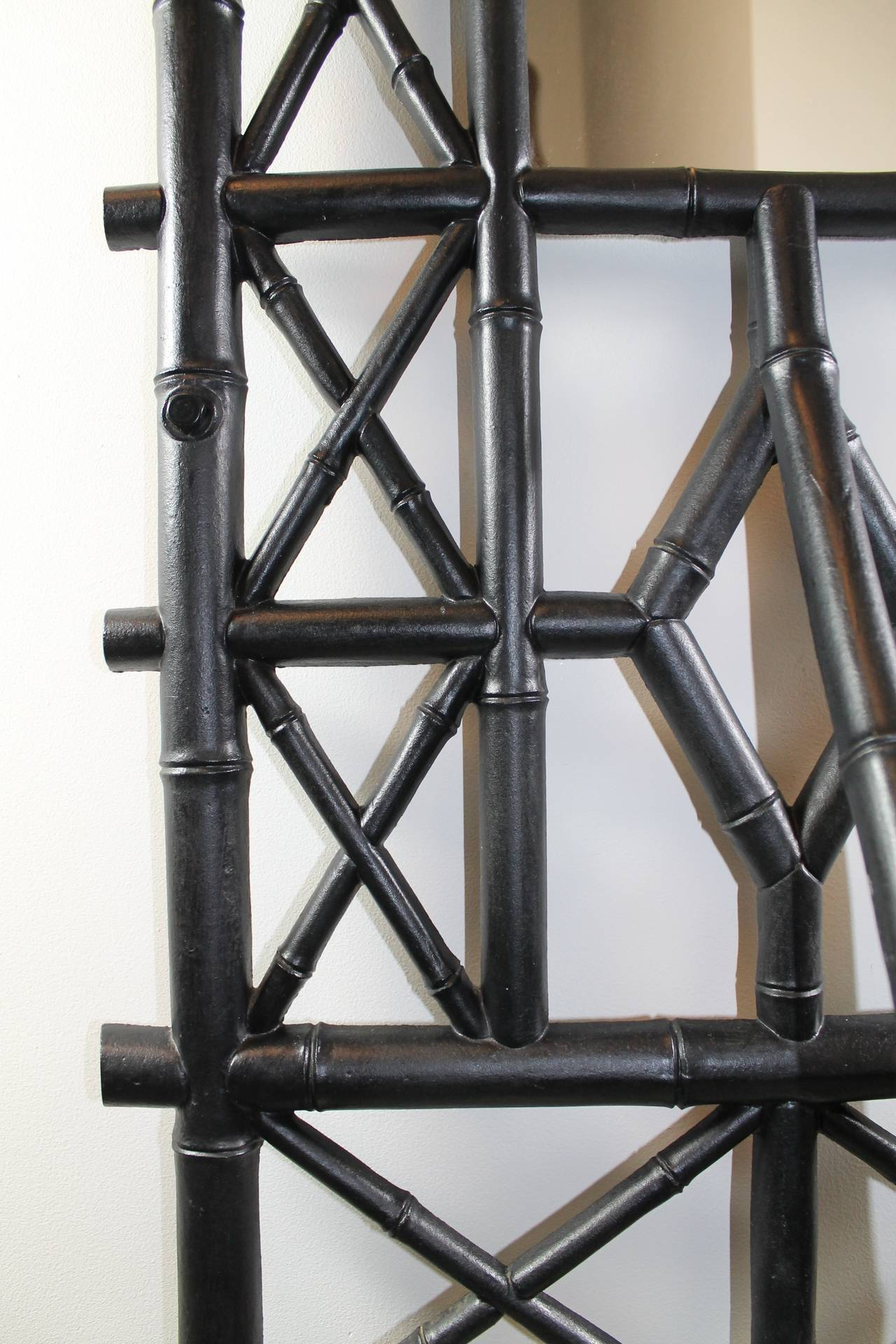 Coat Stand in Cast Iron with Umbrella Stand and Mirror 5