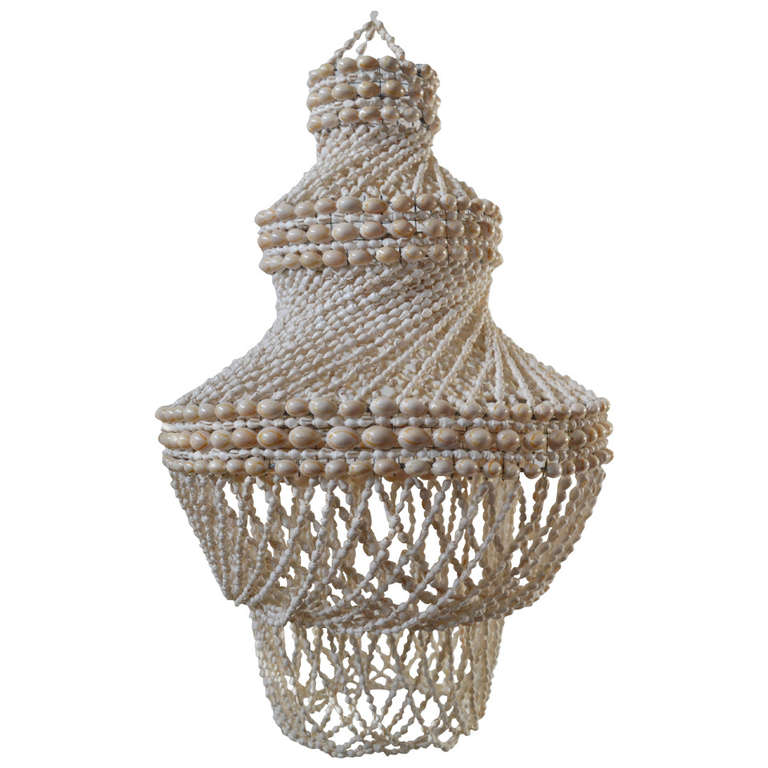 Lamp made of shells for sale at 1stdibs - Fibre de verre decorative ...