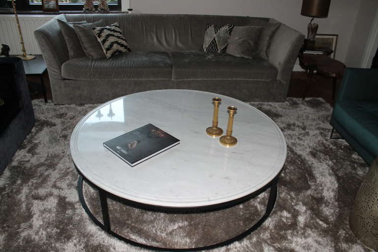 Coffee Table With Carrara Marble Top For Sale At 1stdibs
