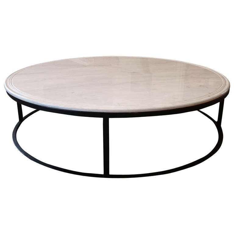 coffee table with carrara marble top at 1stdibs