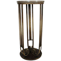 Art Deco Pedestal with a Marble Top