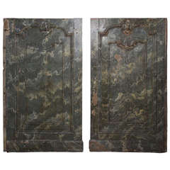 Pair of Marbled Panels