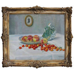 Still life with Fruit by Carl Nona (Bonn 1876-1949)