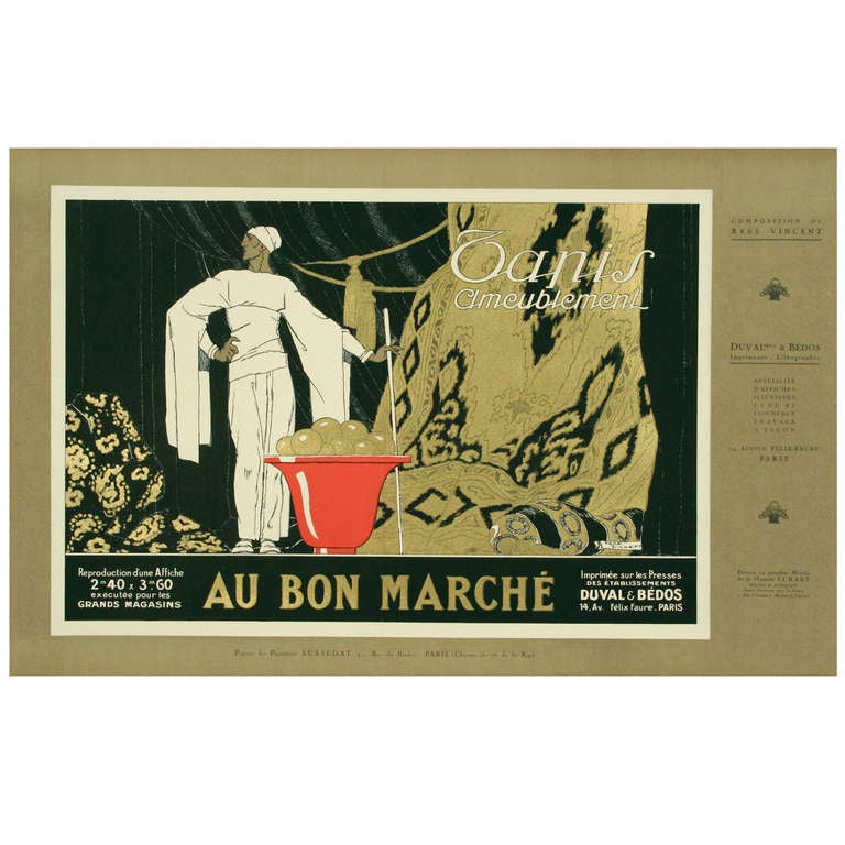 deco period poster by rene vincent c 1930 at 1stdibs