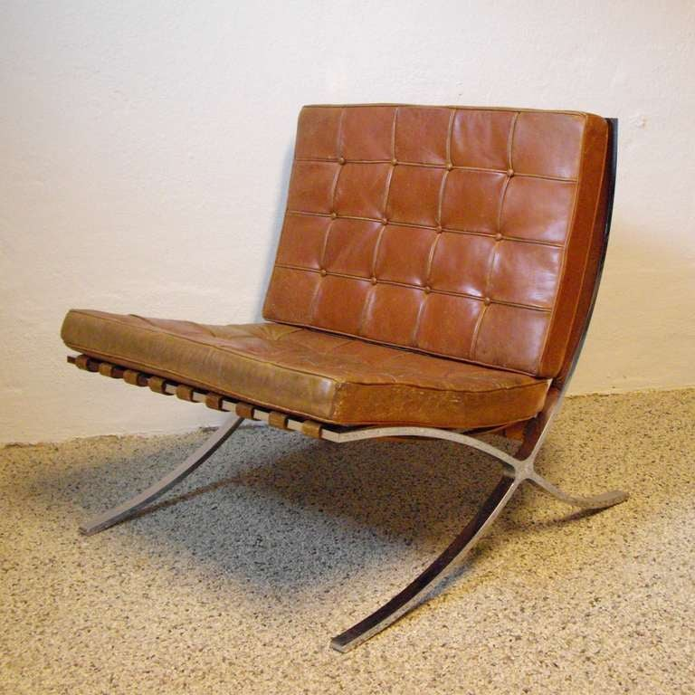 ludwig mies van der rohe barcelona chair by knoll at 1stdibs. Black Bedroom Furniture Sets. Home Design Ideas