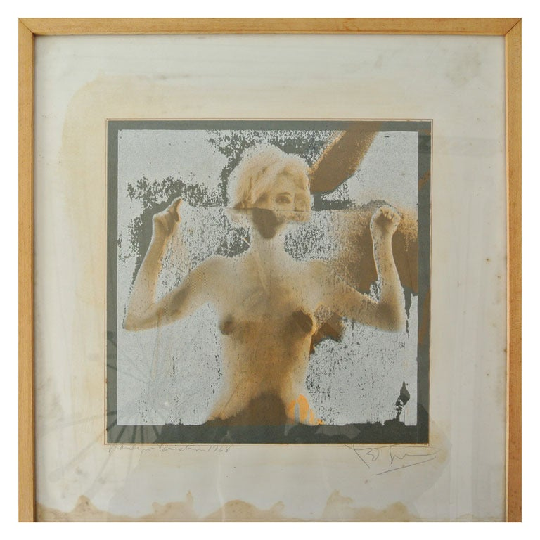 "Marilyn Monroe ""Marilyn Variation"" Screen Print by Bert Stern 1968"