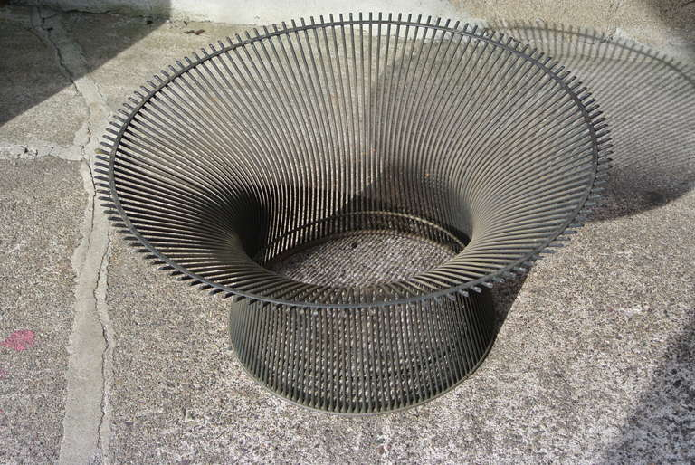Warren Platner Bronze Coffee Table Base With Green Marble Top For