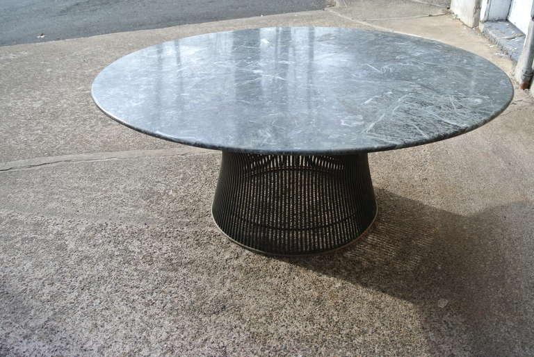 Warren Platner Bronze Coffee Table Base With Green Marble Top For - Coffee table base for marble top