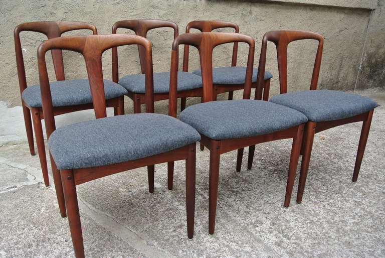"Danish Dining Chair juliane"" danish dining chairsjohannes andersen for uldum, set"