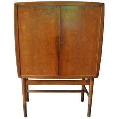 Edvard and Tove Kindt-Larsen Walnut Bar Cabinet