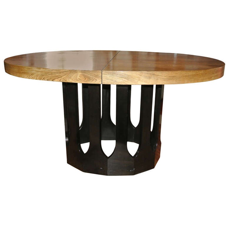 Harvey Probber Bleached Rosewood Gothic Dining Table At