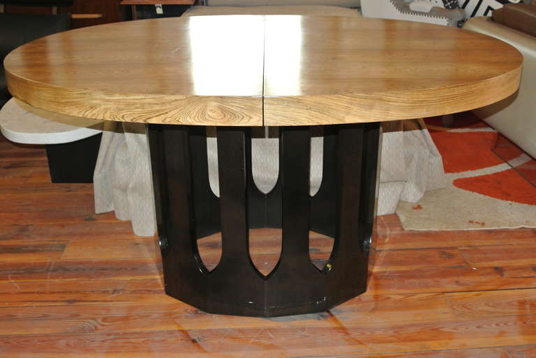 Harvey Probber Bleached Rosewood Gothic Dining Table For