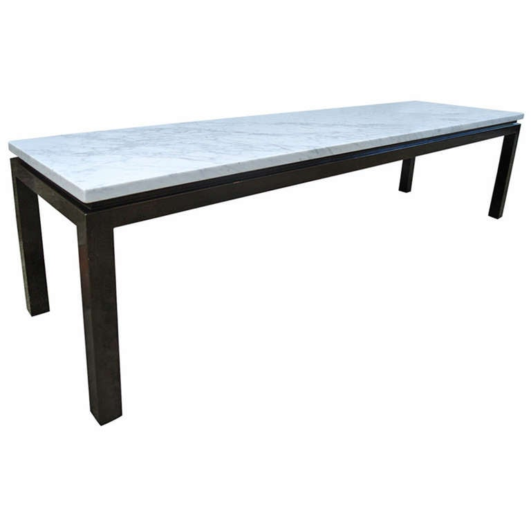 Harvey Probber Carrara Marble Coffee And Cocktail Table For Sale At
