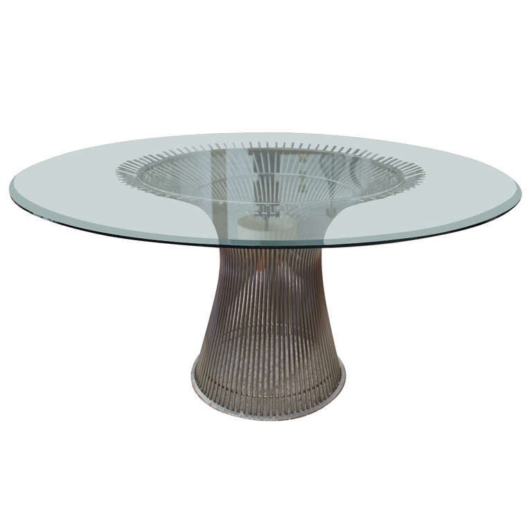 Warren Platner Nickel Plated Wire Dining Table By Knoll At 1stdibs