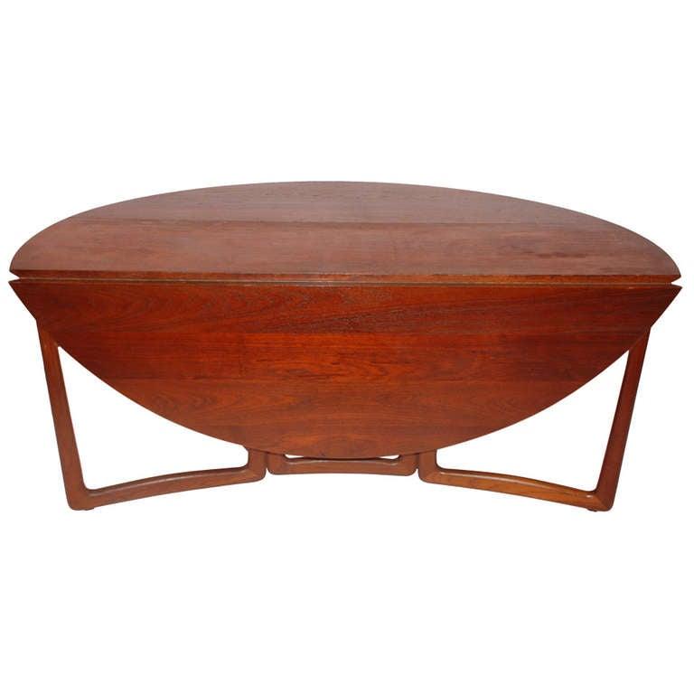 Modern Drop Leaf Dining Table Part - 41: Peter Hvidt U0026 Mølgaard-Nielsen For John Stuart Teak Drop-Leaf Dining Table 1
