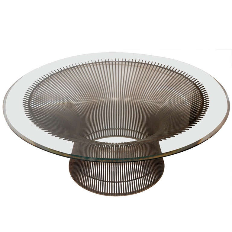 warren platner for knoll bronze coffee table at 1stdibs