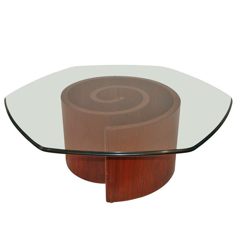 Vladimir Kagan Snail Cocktail Table At 1stdibs
