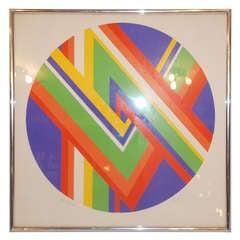 Vintage Art Deco Rainbow Lithograph
