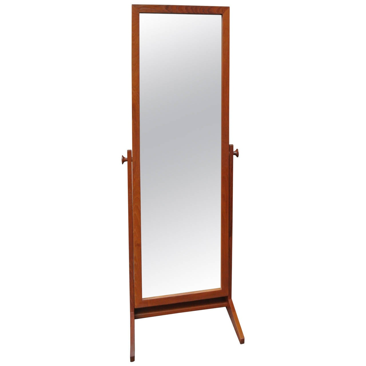 Full Length Teak Mirror By Pedersen Hansen For
